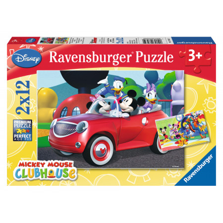 2x12 pcs Puzzle Mickey, Minnie & Friends