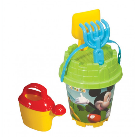 Medium Bucket Set with Watering Can and Accessories Mickey Mouse