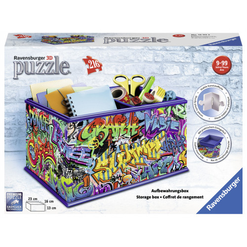 3D Puzzle 216 pcs Storage Box Graffiti