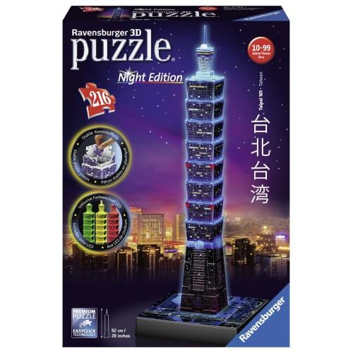 3D Puzzle Night Edition 216 pcs Taipei 101