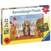 2x12 pcs Puzzle Cats