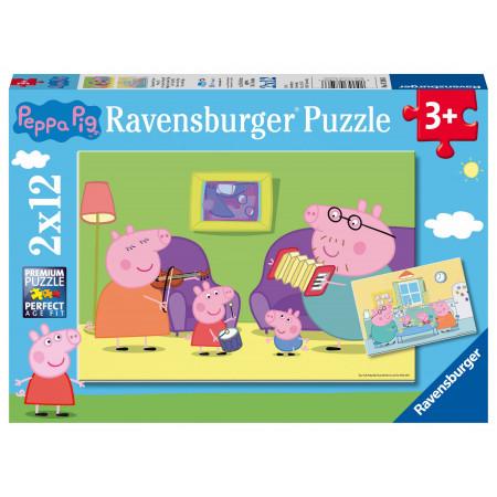 2x12 pcs Puzzle Peppa Pig