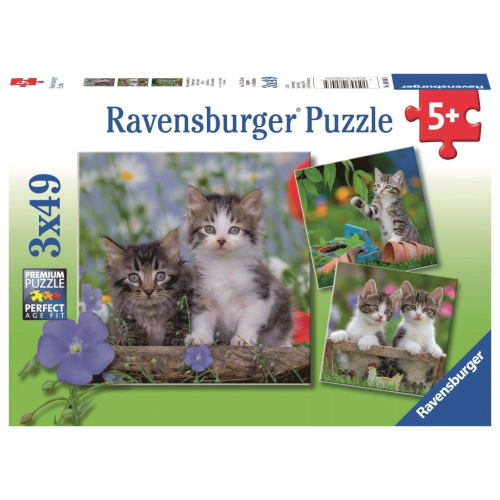 3x49 pcs Puzzle Funny Kittens