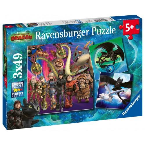 3x49 pcs Puzzle Dragons