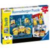 3x49 pcs Puzzle Minions