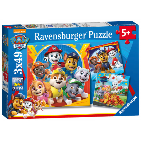 3x49 pcs Puzzle Paw Patrol