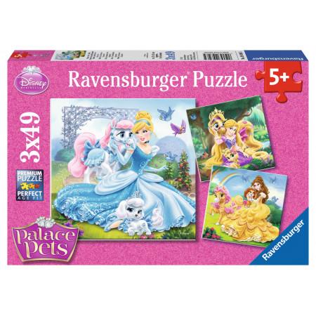 3x49 pcs Puzzle Palace Pets
