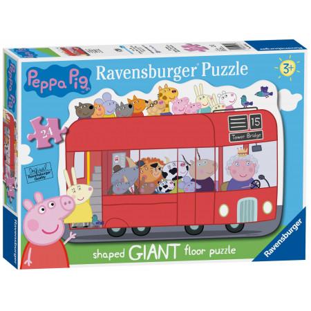24 pcs Floor Puzzle Peppa Pig  Bus