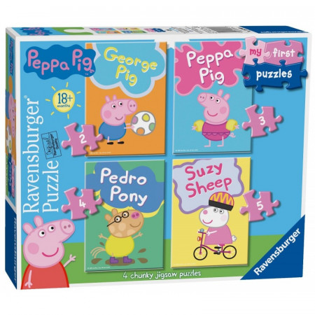 My First Puzzles 2/3/4/5 pcs Peppa Pig