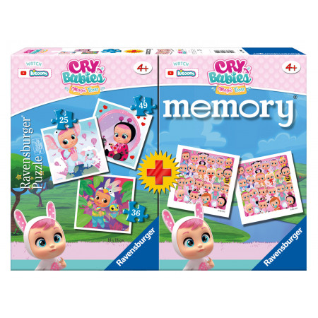 Memory® + 3 Puzzles Cry Babies