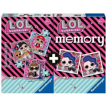 Memory® + 3 Puzzles L.O.L. Surprise